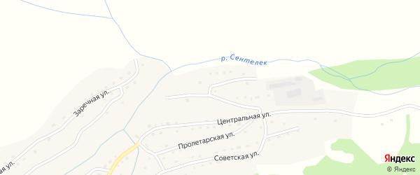 Механическая улица на карте села Сентелька с номерами домов