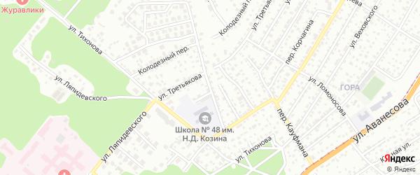 Переулок Дрокина на карте Барнаула с номерами домов