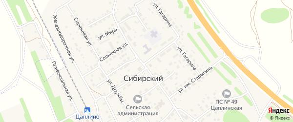 Молодежная улица на карте Сибирского поселка Алтайского края с номерами домов