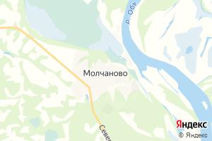 Карта с. Молчаново Томская область