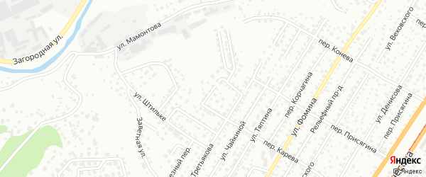 Томский проезд на карте Барнаула с номерами домов