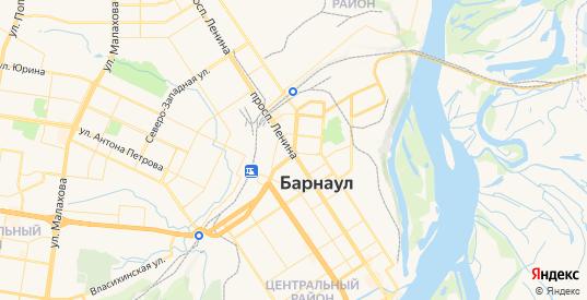 Карта Барнаула с улицами и домами подробная - показать