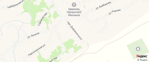 Переулок Дзержинского на карте села Михайловки с номерами домов
