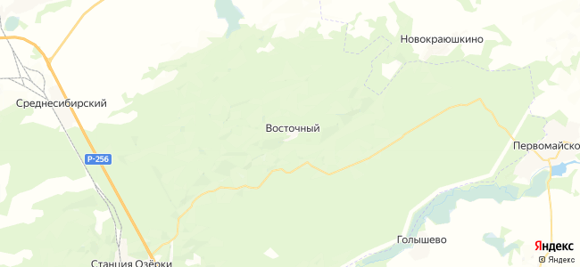 Восточный на карте