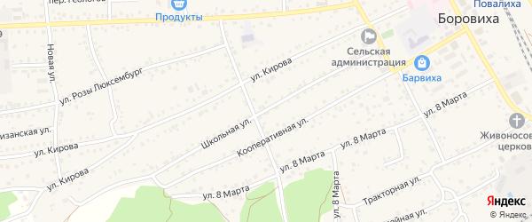Школьная улица на карте села Боровихи с номерами домов