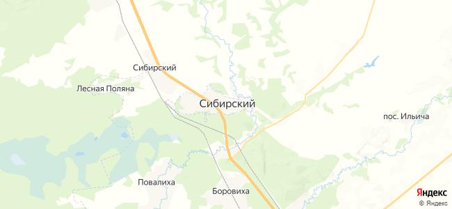 ЗАТО Сибирский на карте