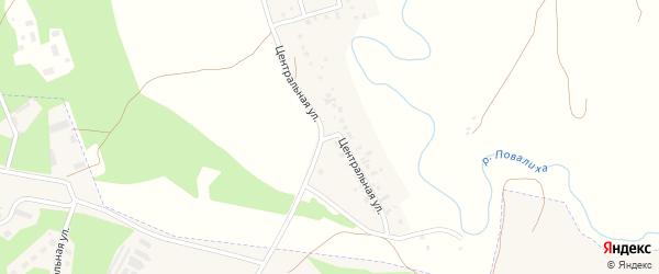 Центральная улица на карте Октябрьского села Алтайского края с номерами домов