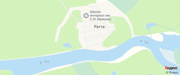 Карта села Ратты в Ямало-ненецком автономном округе с улицами и номерами домов
