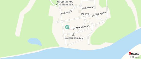 Набережная улица на карте села Ратты Ямало-ненецкого автономного округа с номерами домов