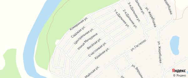 Садовая улица на карте садового некоммерческого товарищества Моторостроителя-2 с номерами домов