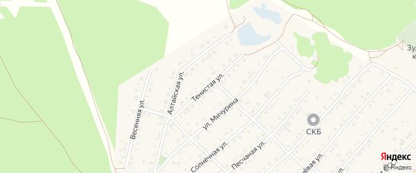 Тенистая улица на карте села Зудилово с номерами домов
