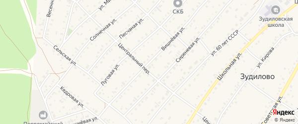 Вишневая улица на карте села Зудилово с номерами домов