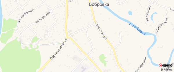 Пионерский переулок на карте села Бобровки с номерами домов
