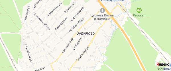 Карта села Зудилово в Алтайском крае с улицами и номерами домов