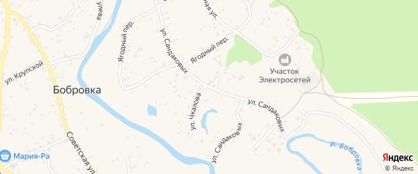 Улица Сандаковых на карте села Бобровки с номерами домов