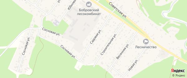 Садовая улица на карте села Бобровки Алтайского края с номерами домов