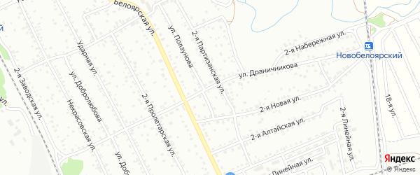 Улица Драничникова на карте Новоалтайска с номерами домов