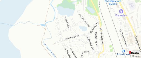 Косой переулок на карте Новоалтайска с номерами домов