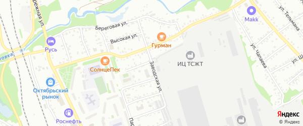 Заводская улица на карте Новоалтайска с номерами домов