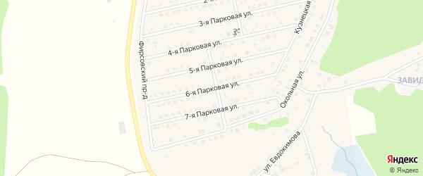 6-я Парковая улица на карте села Санниково Алтайского края с номерами домов