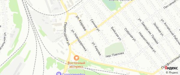 Улица Кирова на карте Новоалтайска с номерами домов