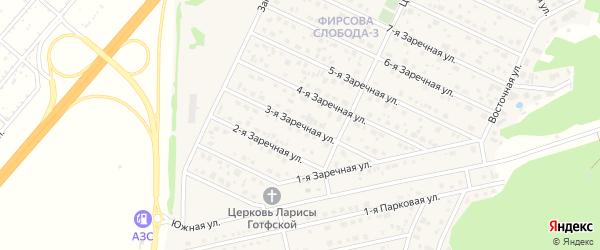 Заречная 3-я улица на карте села Санниково с номерами домов