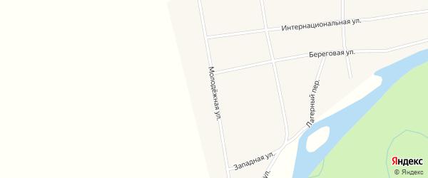 Молодежная улица на карте села Антоньевки с номерами домов
