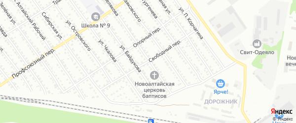 Свободный переулок на карте Новоалтайска с номерами домов