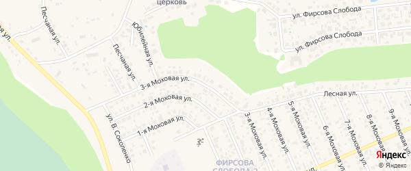 Моховая 3-я улица на карте села Фирсово с номерами домов