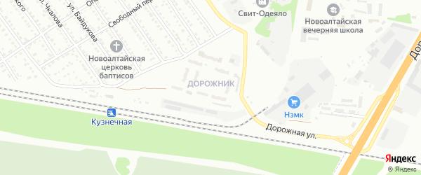 Микрорайон Дорожник на карте Новоалтайска с номерами домов