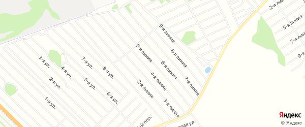 Карта садового некоммерческого товарищества Вагоностроителя-2 в Алтайском крае с улицами и номерами домов