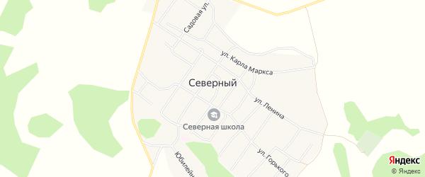 Карта Северного поселка в Алтайском крае с улицами и номерами домов