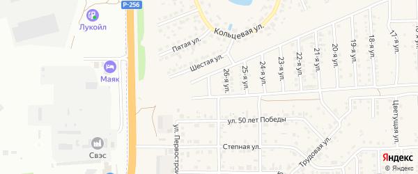 27-я улица на карте Солнечного села с номерами домов