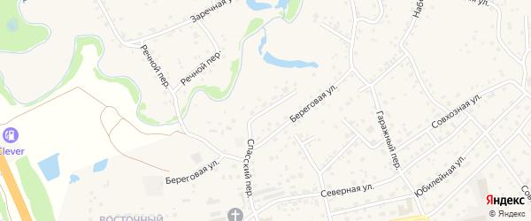 Песчаный переулок на карте села Березовки Алтайского края с номерами домов