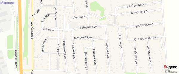 Цветочная улица на карте села Березовки с номерами домов