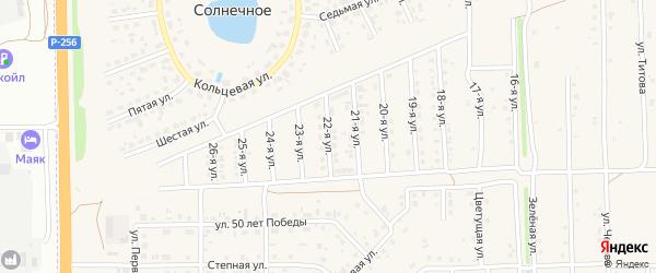 22-я улица на карте Солнечного села с номерами домов
