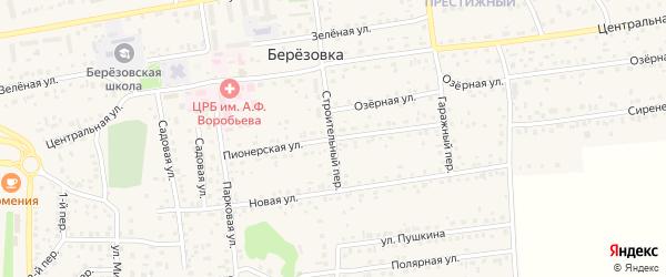 Пионерская улица на карте села Березовки Алтайского края с номерами домов