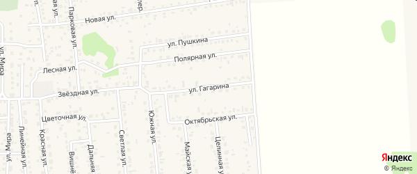 Улица Гагарина на карте села Березовки Алтайского края с номерами домов