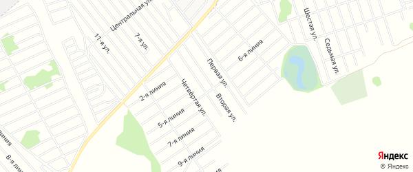 Карта садового некоммерческого товарищества Медика в Алтайском крае с улицами и номерами домов