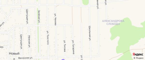 Улица Гагарина на карте Нового поселка с номерами домов