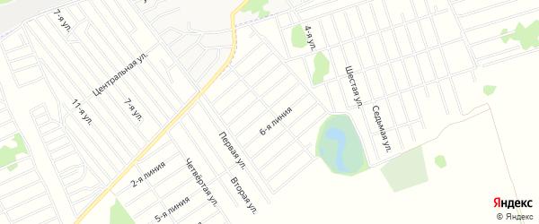 Карта садового некоммерческого товарищества Рябинушки в Алтайском крае с улицами и номерами домов