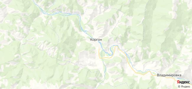 Коргон на карте