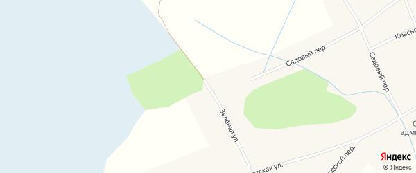 Зеленая улица на карте села Новообинки с номерами домов