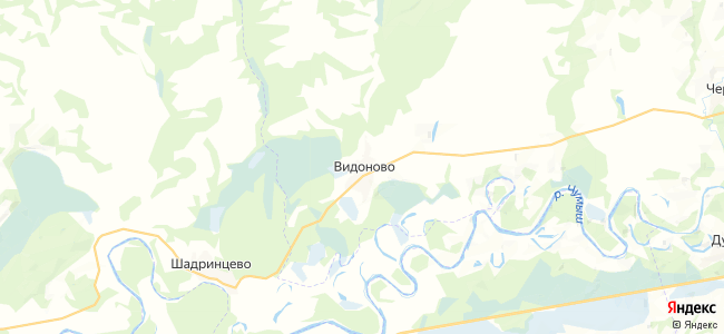 Видоново на карте