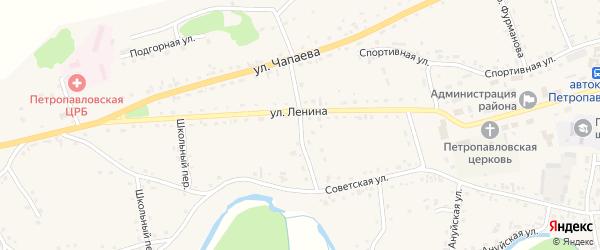 Переулок Горького на карте Петропавловского села с номерами домов