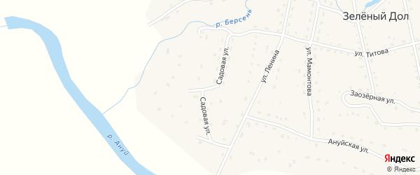 Садовая улица на карте села Зеленого Дола Алтайского края с номерами домов