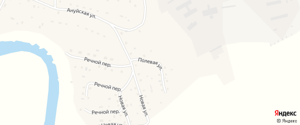 Полевая улица на карте села Зеленого Дола Алтайского края с номерами домов