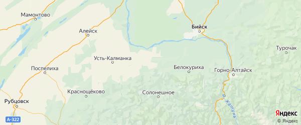 Карта Петропавловского района Алтайского края с городами и населенными пунктами