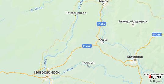 Карта Болотнинского района Новосибирской области с городами и населенными пунктами
