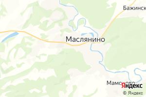 Карта пгт Маслянино Новосибирская область